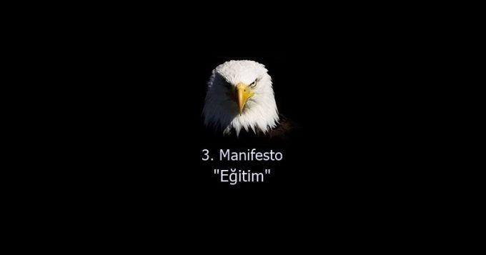 """3. Manifesto """"Eğitim"""""""