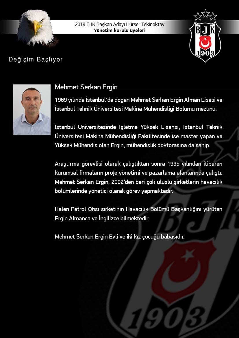 BJK Yönetim Kurulu Mehmet Serkan Ergin