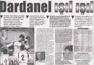 Dardanelspor ışıl ışıl