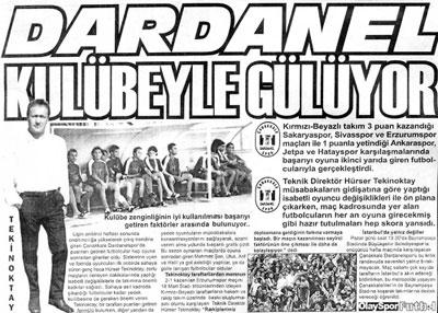 Dardanelspor Kulübeyle Gülüyor