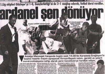 Dardanelspor Şen Dönüyor
