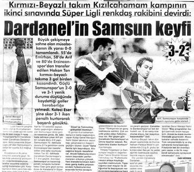 Çanakkale Dardanelspor'un Samsun Keyfi